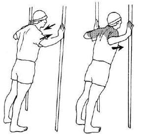 Упражнение для растяжки грудных мышц