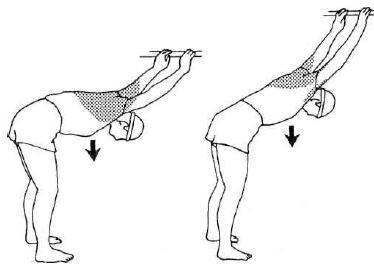 Упражнение для растягивания мышц спины