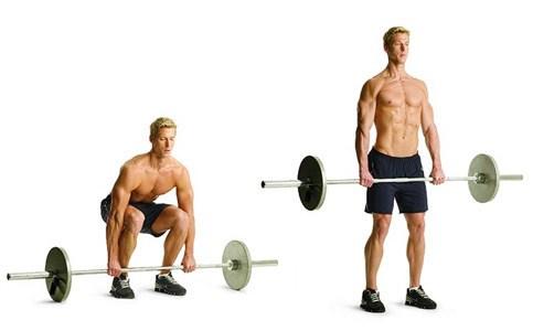 тренировка спины - становая тяга
